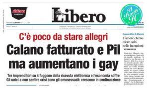 Libero contro i gay - 23 gennaio 2019