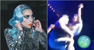 Lady Gaga cade dal palco
