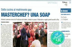 MasterChef italia - libero e l'omofobia contro Antonio Lorenzon