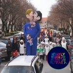 Croatia: a group of people burns the effigy of a gay couple with a child for Carnival celebrations.