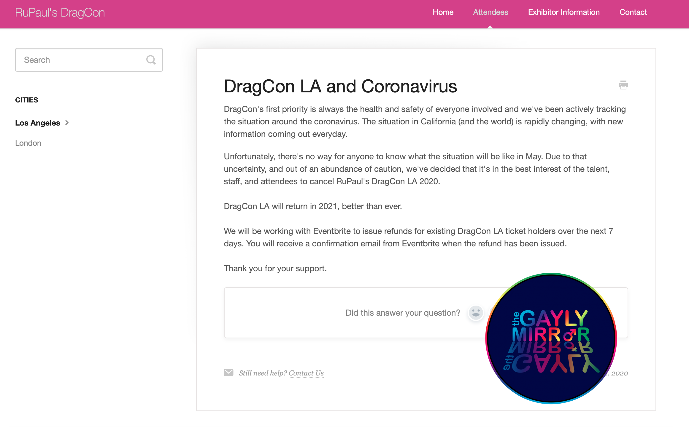 RuPaul's DragCon LA 2020 cancelled after corona virus concerns