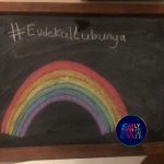 Turkish Children asked to stop drawing rainbows as this will turn them gay.