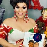 The library is now open, with Mrs. Kasha Davis' Drag Story Time LIVE