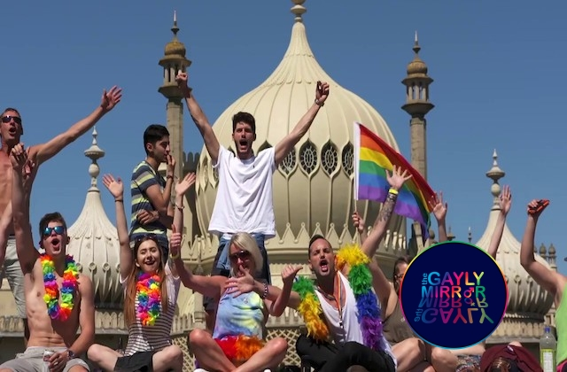 Man charged for homophobic and hate crime after he set a Pride flag on fire in Brighton.